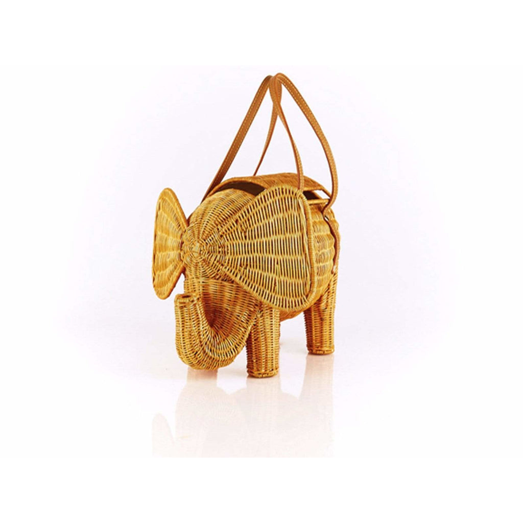 Elephant Wicker Bag
