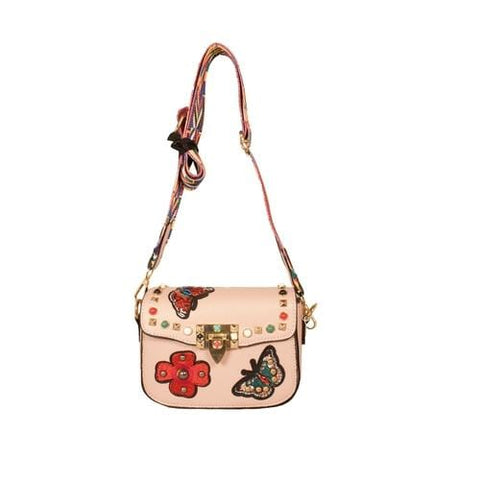 'Audrey' Crossbody Handbag in Light Pink