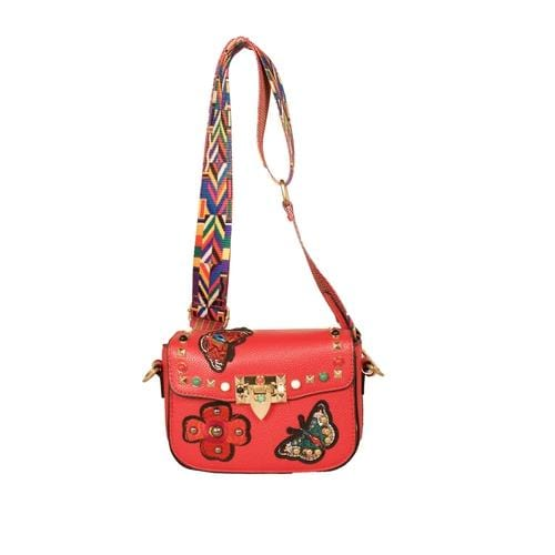 'Audrey' Crossbody Handbag in Red