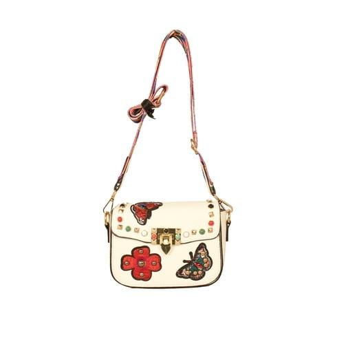 'Audrey' Crossbody Handbag in White - ANTHILL shopNplay