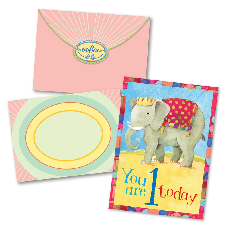 Elephant 1 Birthday Card