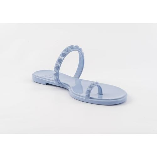 'Maria' Flat Sandals in Baby Blue