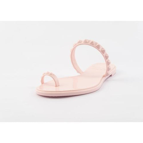 'Maria' Flat Sandals in Baby Pink