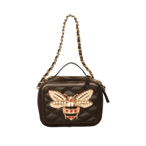 'Bumble Bee' Crossbody Handbag in Black - ANTHILL shopNplay