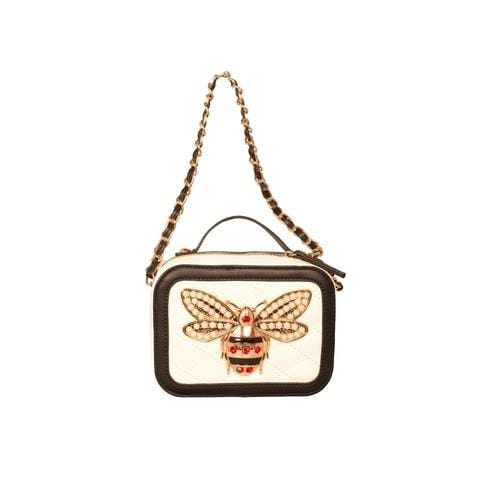 'Bumble Bee' Crossbody Handbag in White