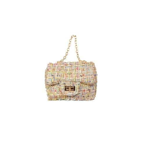 'Liz' Tweed Handbag in Pastel Multi