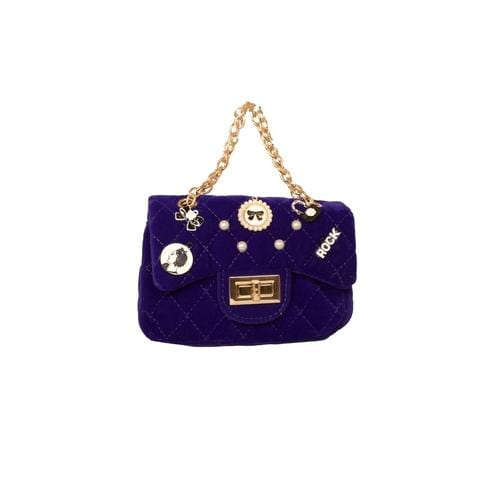 'Claire' Handbag with Pins in Royal Blue
