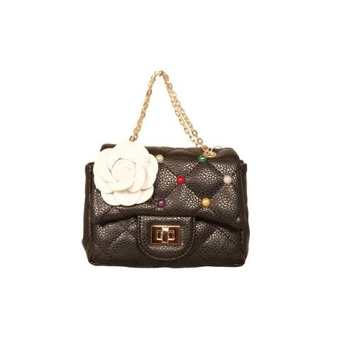 'Coco' Handbag with Confetti Studs in Black - ANTHILL shopNplay