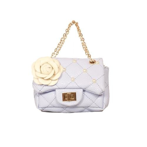 'Coco' Handbag with Studs in Light Blue