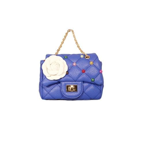 'Coco' Handbag with Confetti Studs in Blue