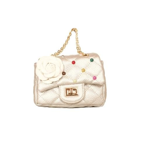 'Coco' Handbag with Confetti Studs in Silver - ANTHILL shopNplay