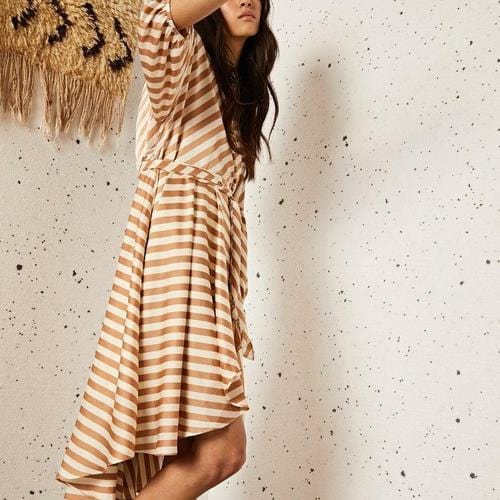 Grain Midi Wrap Dress - ANTHILL shopNplay