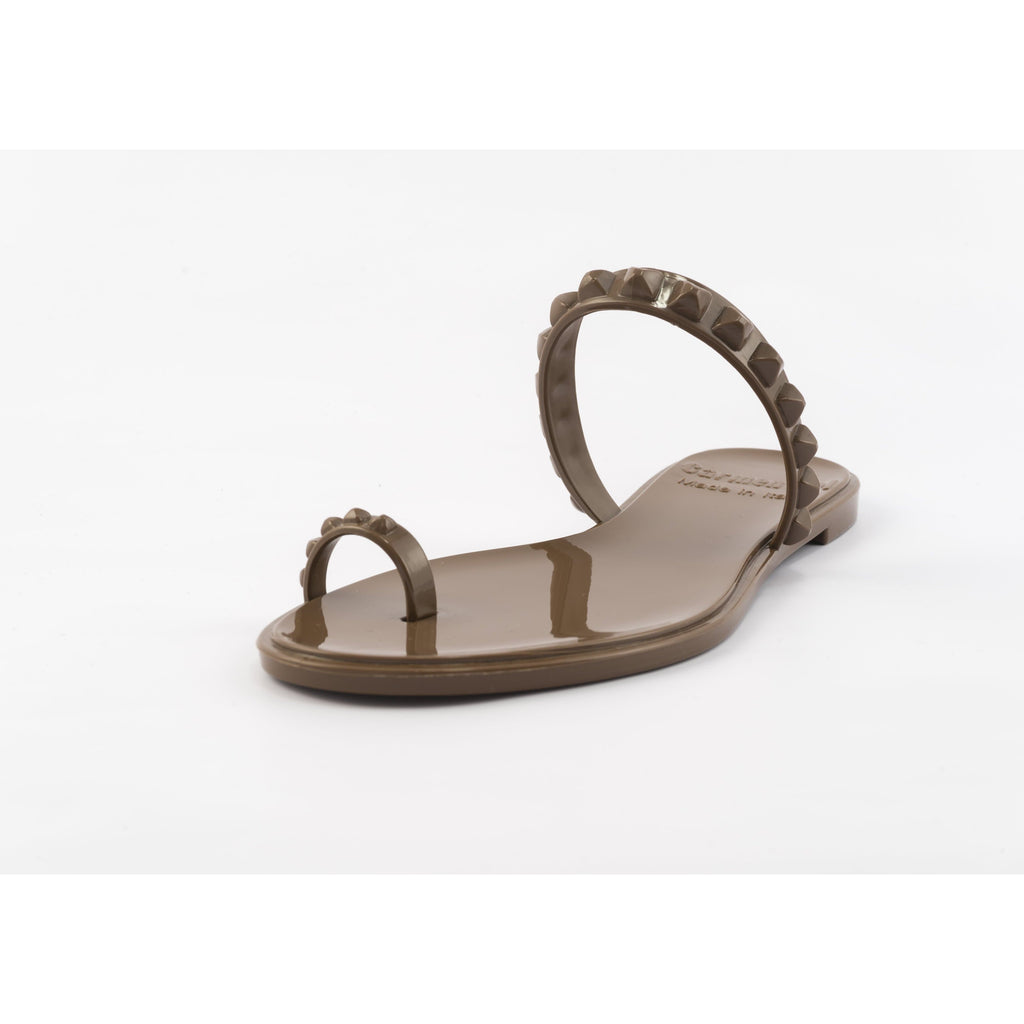 'Maria' Flat Sandals in Brown