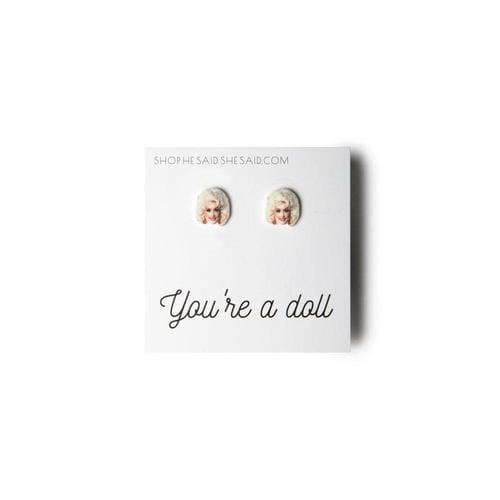 'Dolly Parton' Stud Earrings - ANTHILL shopNplay