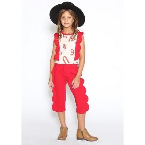 Dove Karmir Pants In Red - ANTHILL shopNplay