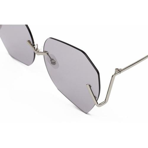 'Burton' Geometric Sunglasses In Grey