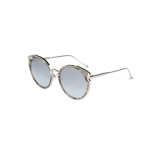 'Artist' Cateye Sunglasses In Silver - ANTHILL shopNplay
