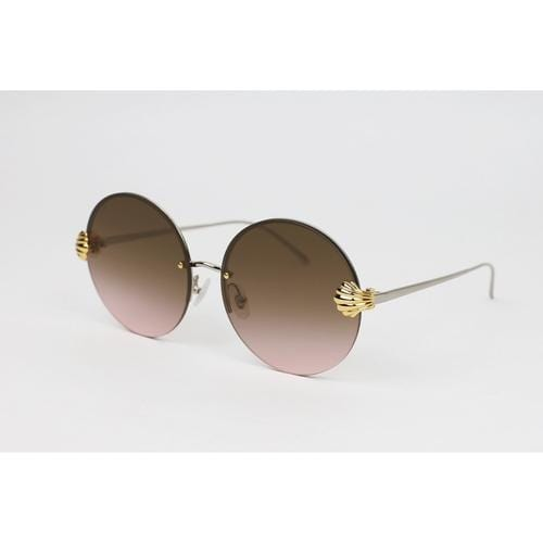 'Goddess' Round Sunglasses In Burgundy