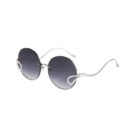 'Passion Fruit' Round Sunglasses In Black