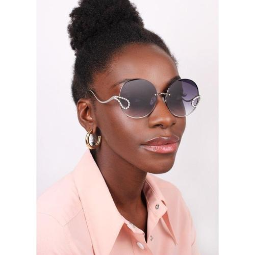 'Passion Fruit' Round Sunglasses In Black - ANTHILL shopNplay