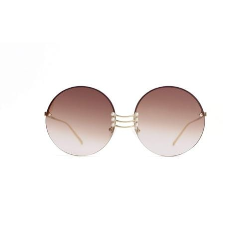 'Vermeer' Round Sunglasses In Champagne - ANTHILL shopNplay