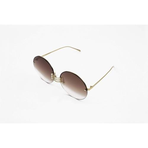 'Vermeer' Round Sunglasses In Champagne