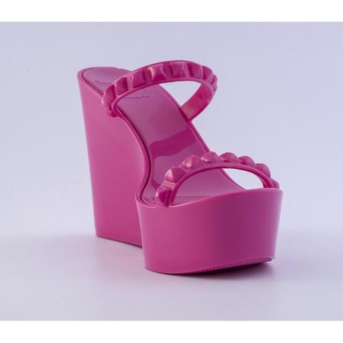 'Tonino' Platform Wedges in Fuchsia