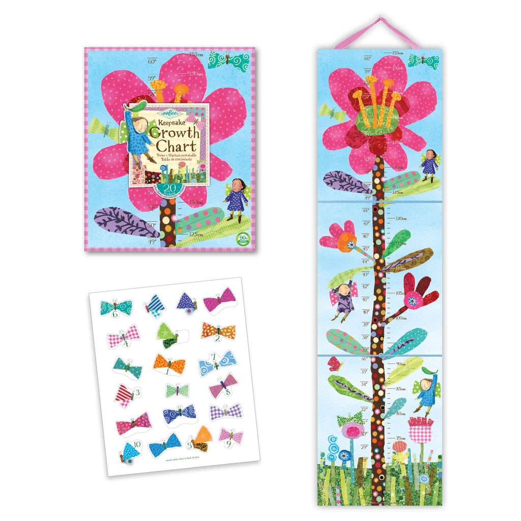 Hot Pink Flower Growth Chart E