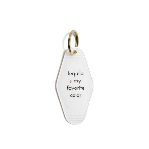 """Tequila Is My Favorite Color"" Vintage Motel Key Tag Keychain"