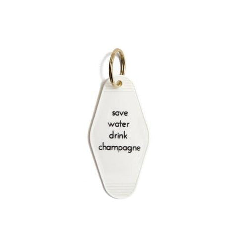 """Girls Support Girls"" Vintage Motel Key Tag Keychain"