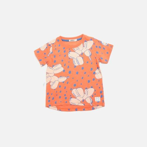 'Bark' Balloon Dog Print Short Sleeve Shirt in Red - ANTHILL shopNplay