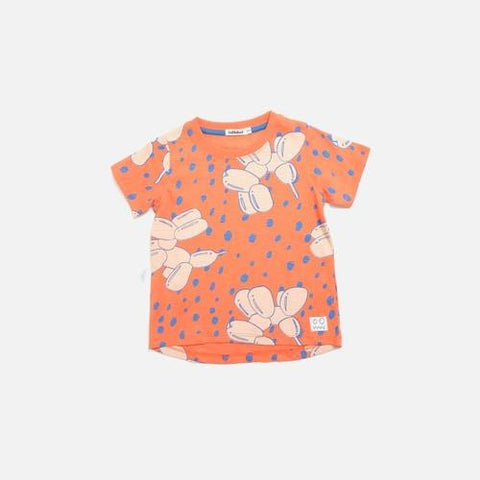 'Woof' Balloon Dog Short Sleeve Shirt in Stone