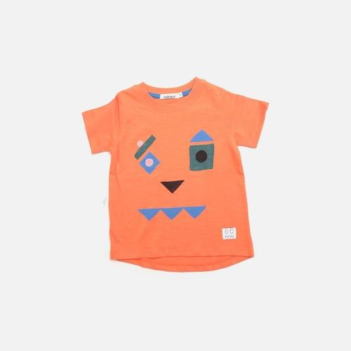 'Game Face' Jack O'Lantern Short Sleeve Shirt in Red Orange