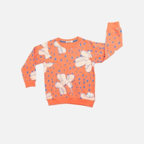 'Rules' Balloon Dog Print Sweatshirt in Red
