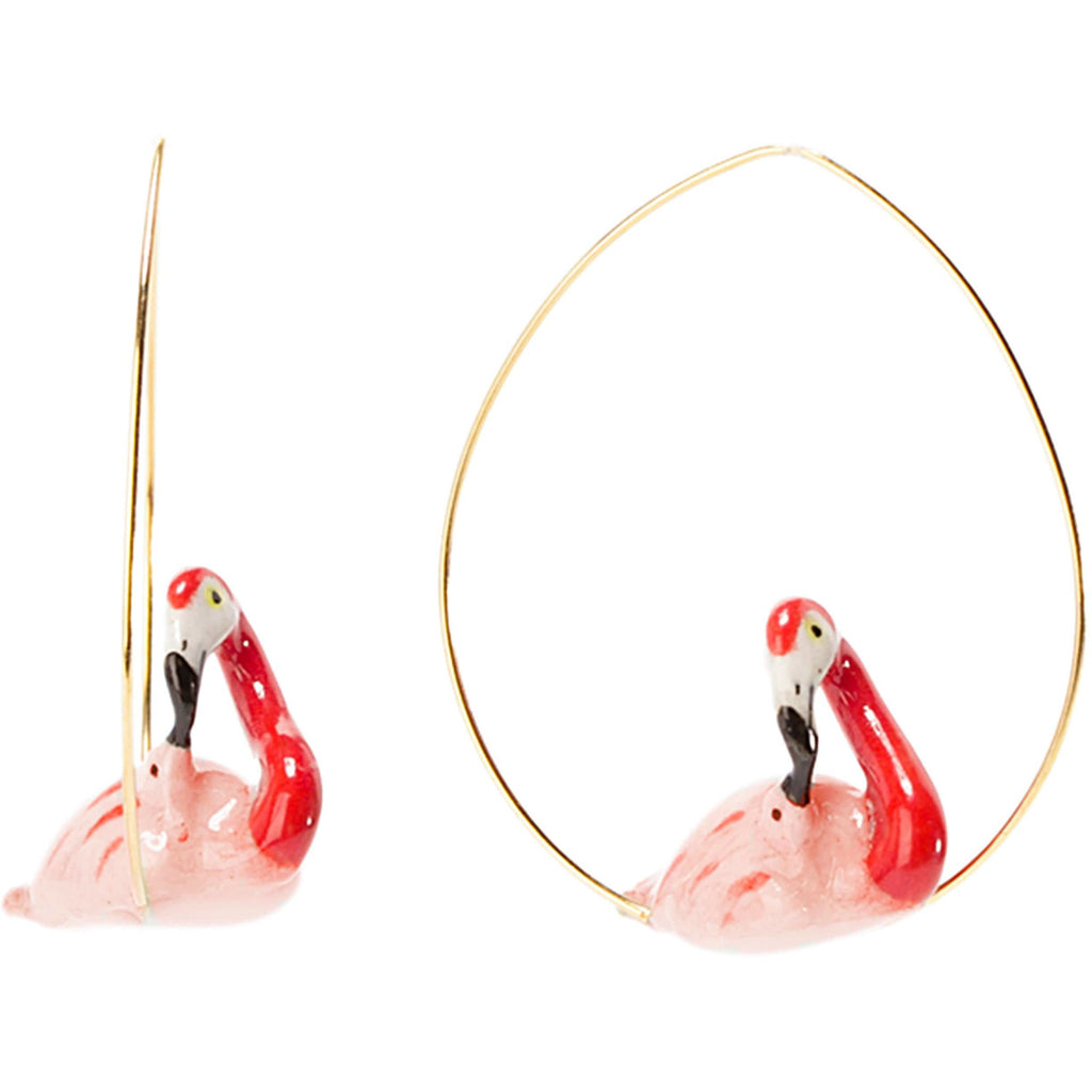 EARRINGS FLAMINGO WITH BABY