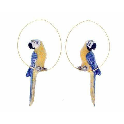 Nach Parrot Hoop Earrings