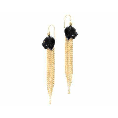 Oker Panther Earrings Fringe - ANTHILL shopNplay