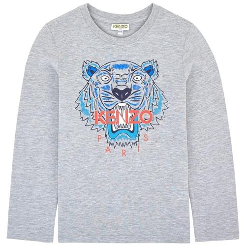 'Tiger' Long Sleeve Shirt in Grey