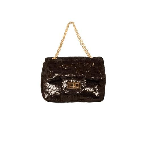 'Marilyn' Sequins Handbag in Black - ANTHILL shopNplay