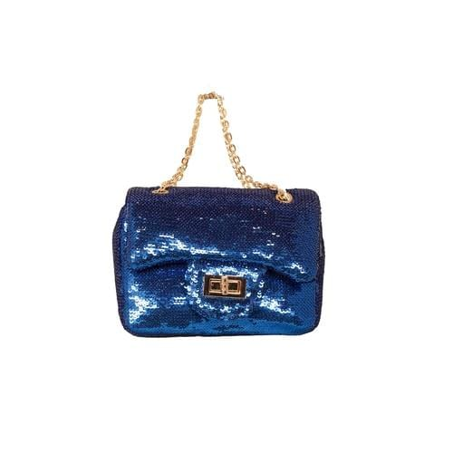 'Marilyn' Sequins Handbag in Blue - ANTHILL shopNplay