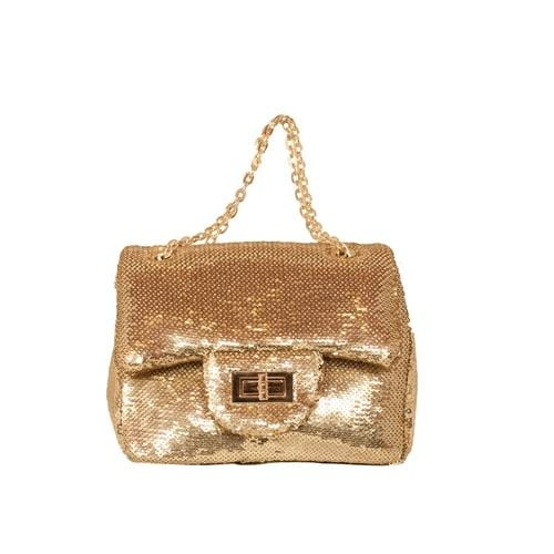 'Marilyn' Sequins Handbag in Gold - ANTHILL shopNplay