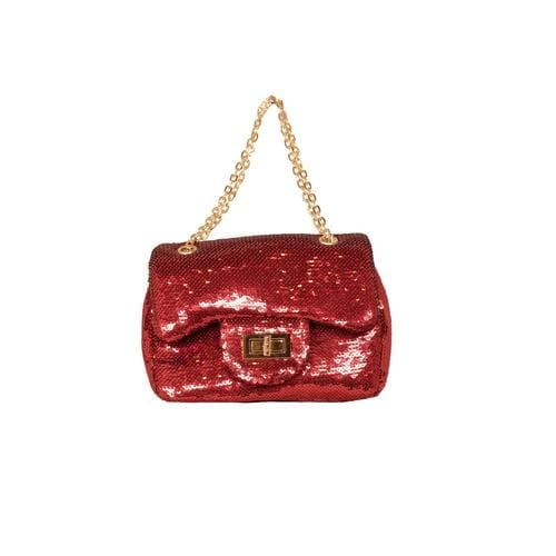 'Marilyn' Sequins Handbag in Red - ANTHILL shopNplay