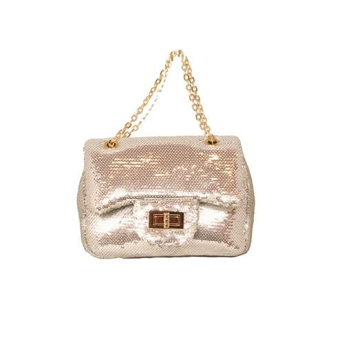 'Marilyn' Sequins Handbag in Silver - ANTHILL shopNplay