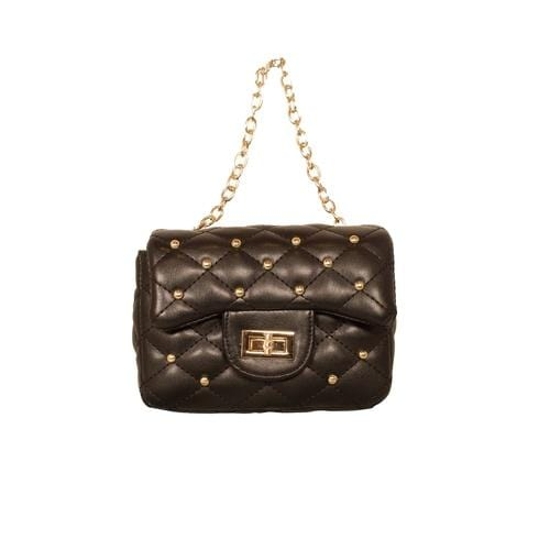 'Diva' Handbag with Studs in Black - ANTHILL shopNplay