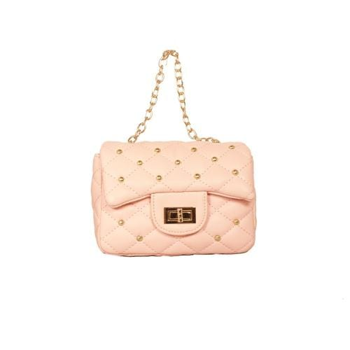'Diva' Handbag with Studs in Light Pink - ANTHILL shopNplay