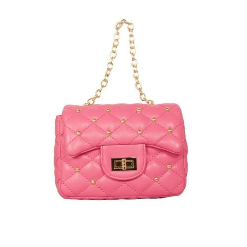 'Diva' Handbag with Studs in Pink - ANTHILL shopNplay
