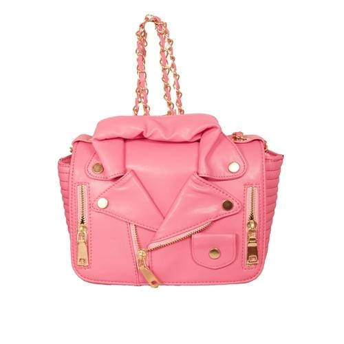 'Biker Jacket' Handbag in Pink