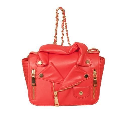'Biker Jacket' Handbag in Red - ANTHILL shopNplay