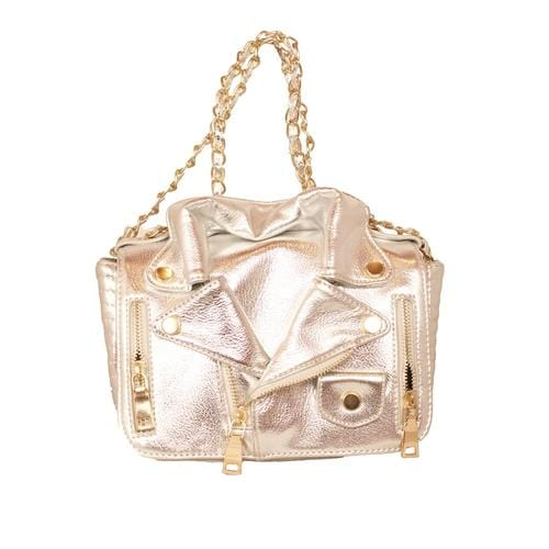 'Biker Jacket' Handbag in Silver - ANTHILL shopNplay