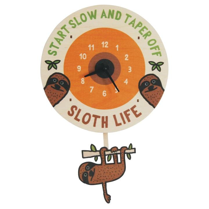 Sloth Life Pendulum Clock